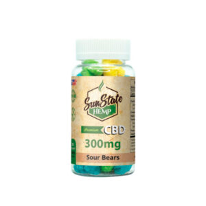 Sun State Hemp - Frasco de gomitas - Sour Bears 300mg
