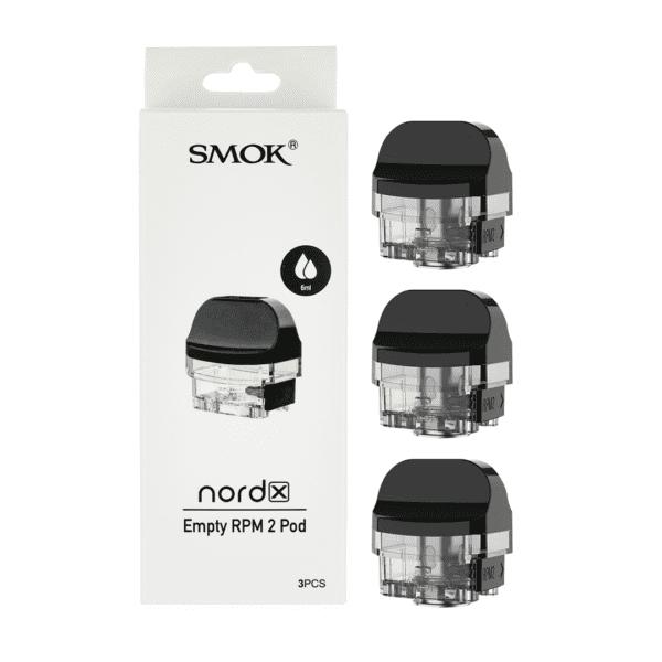 Caja de 3 pods vacíos para el Smok Nord X RPM 2