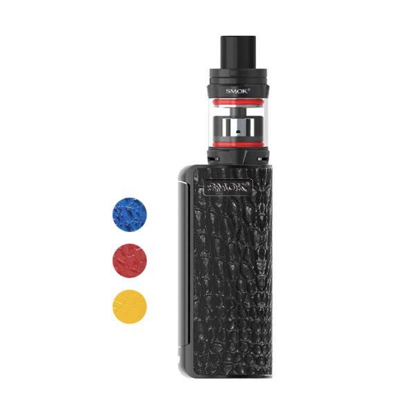 Vaporizador Priv V8 Nord Edition. Color Negro con textura de cuero.