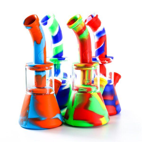 Silicone-Bong-Vidrio-Colores